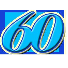 Поздравления с 60-летием бесплатно, . Анимация открытка с днем 60