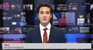 Virtual host first aired by Kazakhstan tv channel